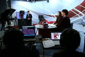 Behind-the-scenes on the BBC School Report News Day in Northern Ireland