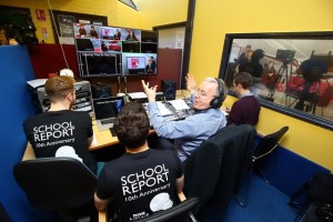 Behind-the-scenes on the BBC School Report News Day in Northern Ireland b